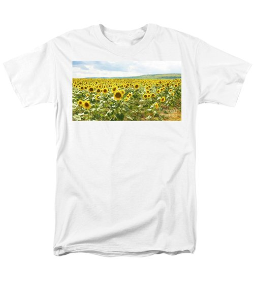 Field With Sunflowers Men's T-Shirt  (Regular Fit) by Irina Afonskaya