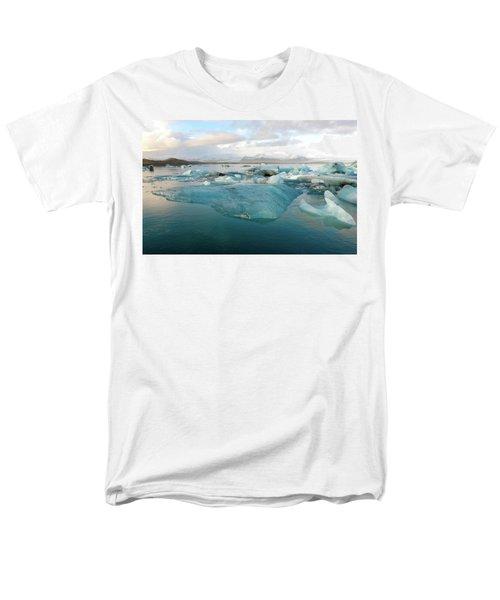 Jokulsarlon The Glacier Lagoon, Iceland 2 Men's T-Shirt  (Regular Fit) by Dubi Roman