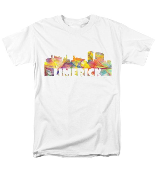 Limerick Ireland Skyline Men's T-Shirt  (Regular Fit) by Marlene Watson