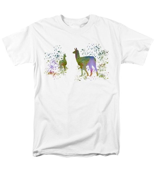 Llamas Men's T-Shirt  (Regular Fit) by Mordax Furittus