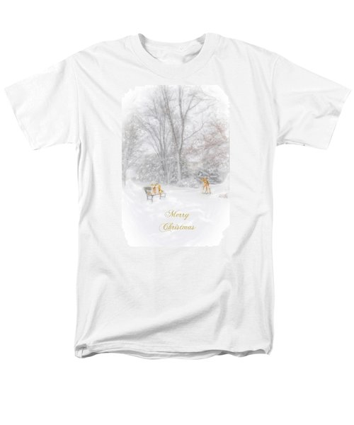 Merry Christmas Men's T-Shirt  (Regular Fit) by Mary Timman