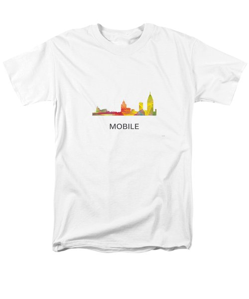Mobile Alabama Skyline Men's T-Shirt  (Regular Fit)