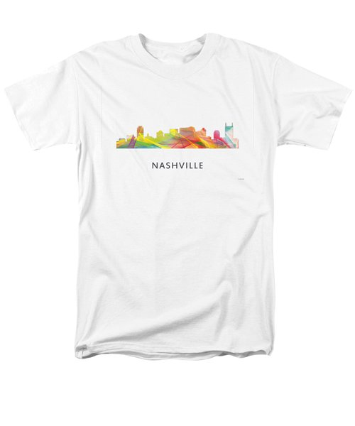 Nashville Tennessee Skyline Men's T-Shirt  (Regular Fit) by Marlene Watson