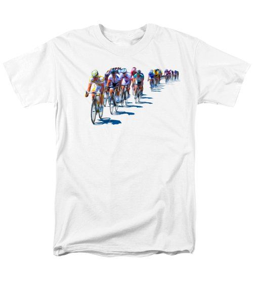 Men's T-Shirt  (Regular Fit) featuring the photograph Philadelphia Bike Race by Bill Cannon