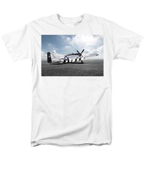 Men's T-Shirt  (Regular Fit) featuring the digital art Quick Silver P-51 by Peter Chilelli