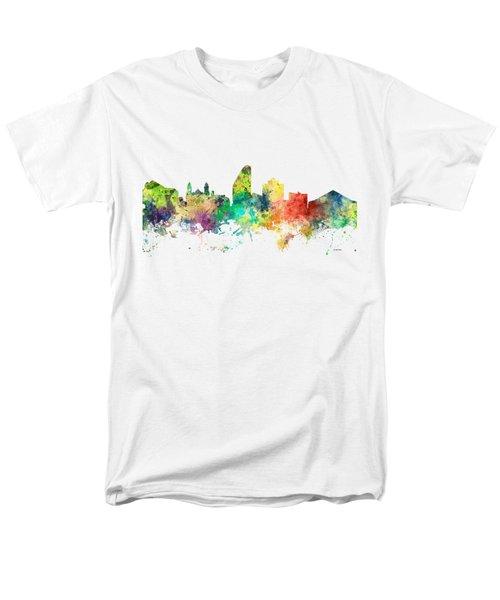 San Jose California Skyline Men's T-Shirt  (Regular Fit) by Marlene Watson