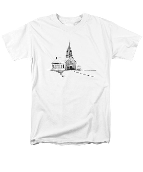 Men's T-Shirt  (Regular Fit) featuring the photograph St. Olaf Lutheran Church by David and Carol Kelly