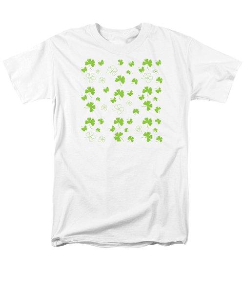 St. Patrick's Four Leaf Clover Background Men's T-Shirt  (Regular Fit) by Serena King
