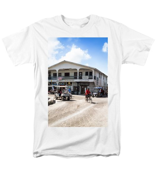 Men's T-Shirt  (Regular Fit) featuring the photograph Street Scene Of San Pedro by Lawrence Burry