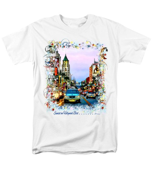 Sunset On Hollywood Blvd Men's T-Shirt  (Regular Fit) by Jennie Breeze