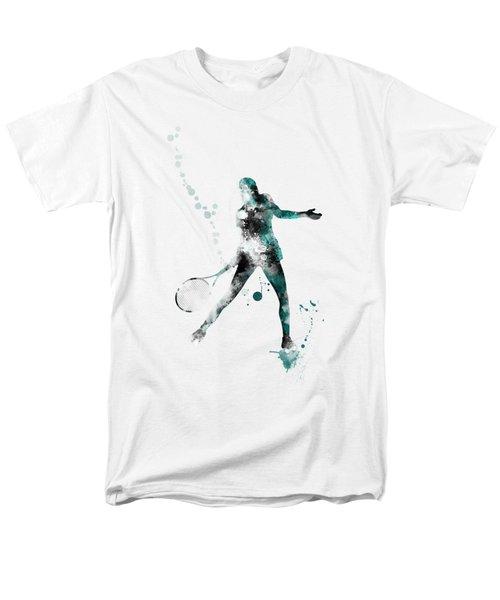 Tennis Player Men's T-Shirt  (Regular Fit) by Marlene Watson