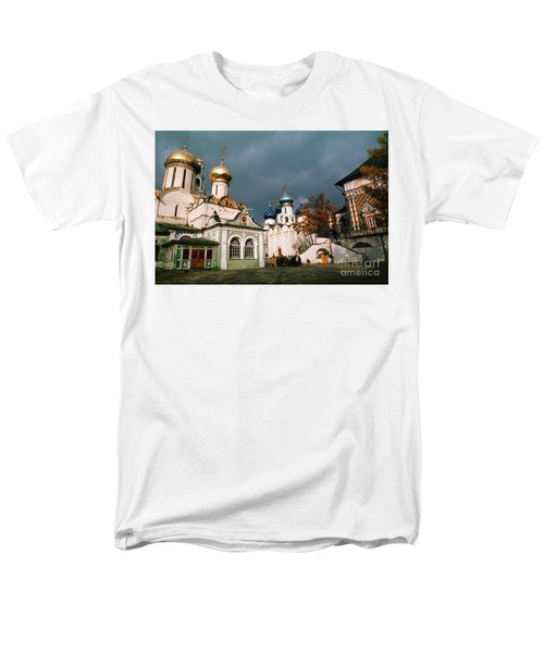 Trinity Lavra Of St. Sergius Monastery Sergiev Posad Men's T-Shirt  (Regular Fit) by Wernher Krutein