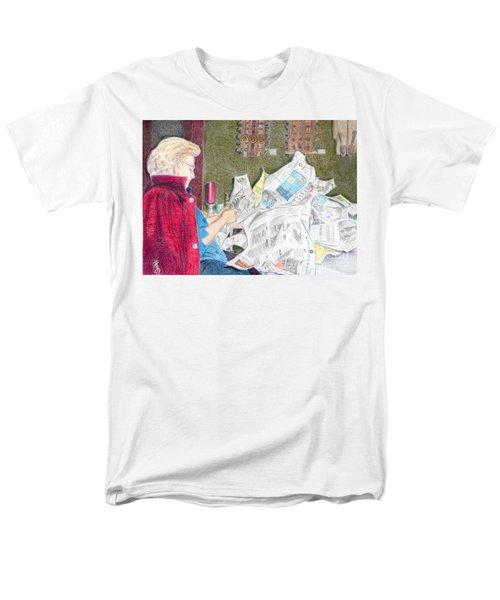 Men's T-Shirt  (Regular Fit) featuring the drawing Unwrap by Yoshiko Mishina