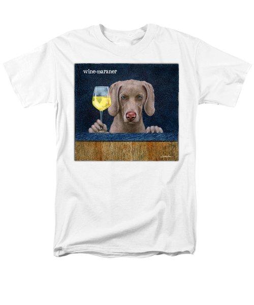 Wine-maraner Men's T-Shirt  (Regular Fit) by Will Bullas