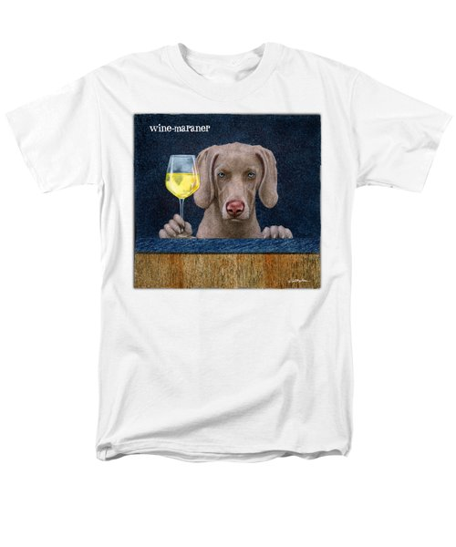 Wine-maraner Men's T-Shirt  (Regular Fit) by Will Bullas