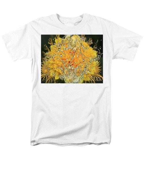 Yellow Dahlia Men's T-Shirt  (Regular Fit) by Elvira Ladocki