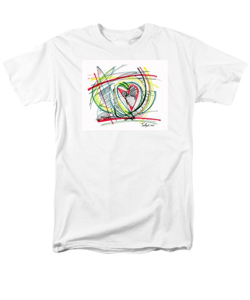 2010 Abstract Drawing Eighteen Men's T-Shirt  (Regular Fit) by Lynne Taetzsch