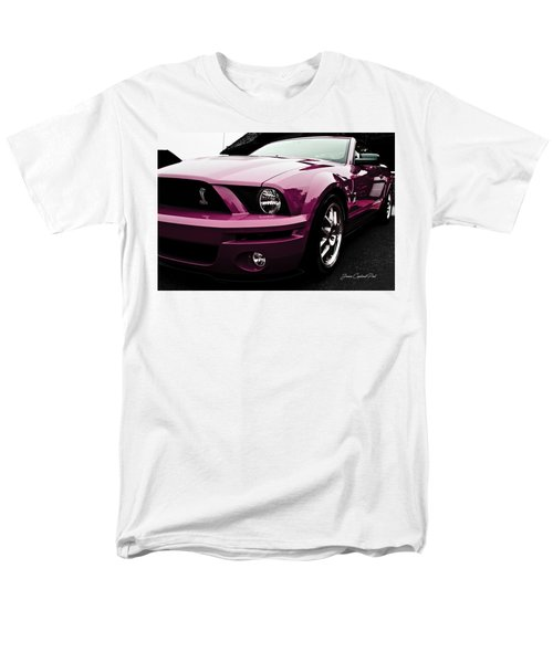 Men's T-Shirt  (Regular Fit) featuring the photograph 2010 Pink Ford Cobra Mustang Gt 500 by Joann Copeland-Paul