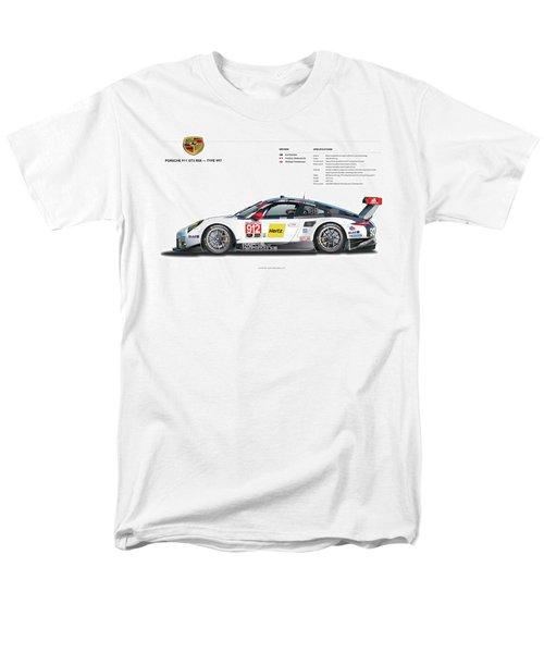 2016 911gt3r Rsr Poster Men's T-Shirt  (Regular Fit) by Alain Jamar
