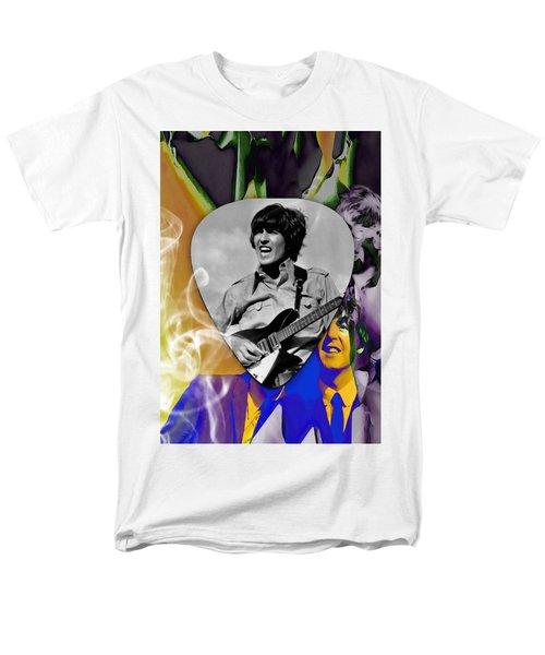 George Harrison Beatles Art Men's T-Shirt  (Regular Fit) by Marvin Blaine
