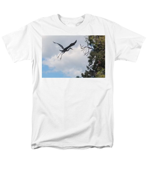 Great Blue Heron Men's T-Shirt  (Regular Fit) by Keith Boone