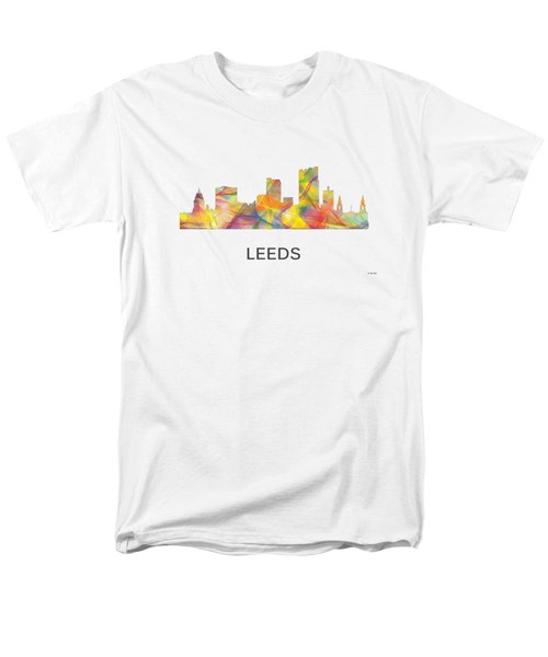 Leeds England Skyline Men's T-Shirt  (Regular Fit)
