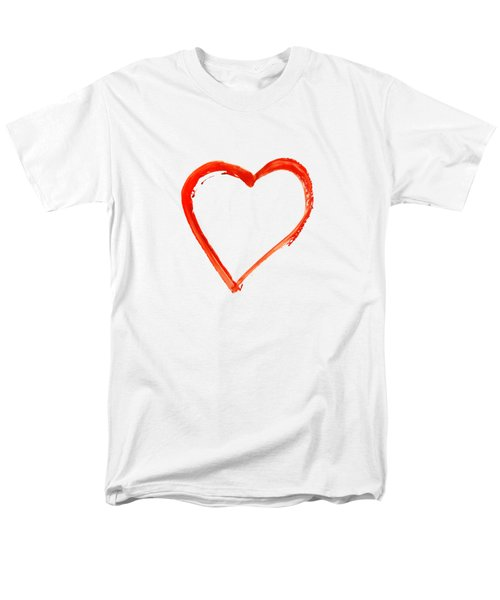 Painted Heart - Symbol Of Love Men's T-Shirt  (Regular Fit) by Michal Boubin