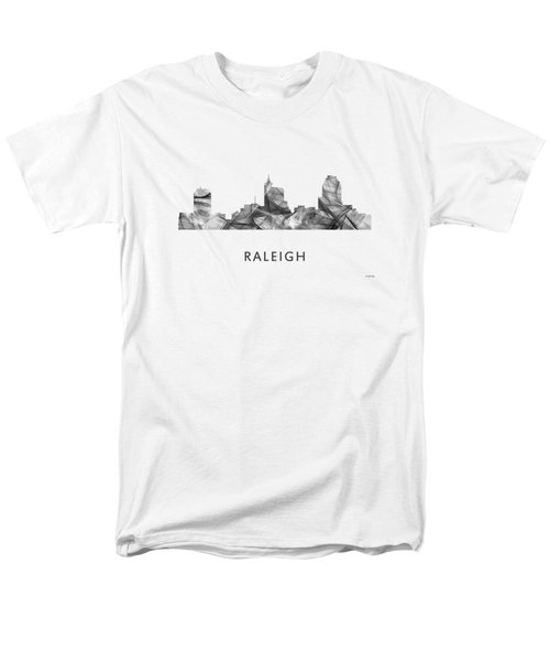 Raleigh North Carolina Skyline Men's T-Shirt  (Regular Fit) by Marlene Watson
