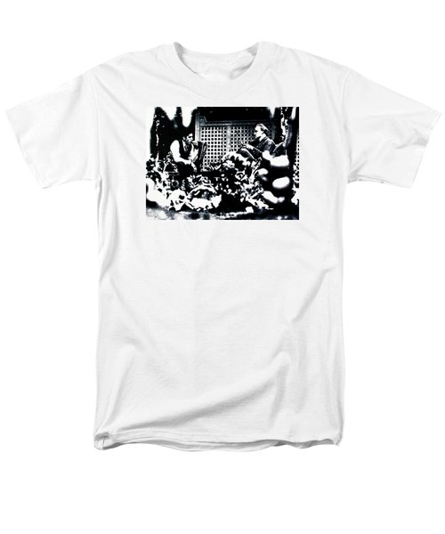 Men's T-Shirt  (Regular Fit) featuring the painting The Godfather by Luis Ludzska
