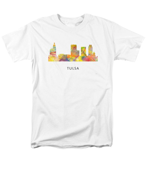 Tulsa Oklahoma Skyline Men's T-Shirt  (Regular Fit) by Marlene Watson