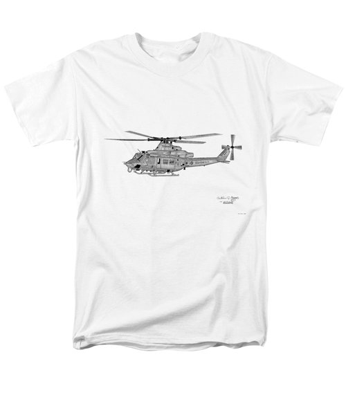 Bell Helicopter Uh-1y Venom Men's T-Shirt  (Regular Fit) by Arthur Eggers