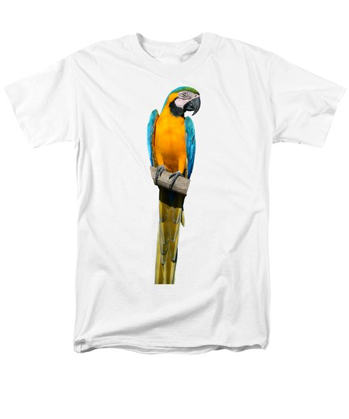 Blue And Gold Macaw Men's T-Shirt  (Regular Fit) by George Atsametakis