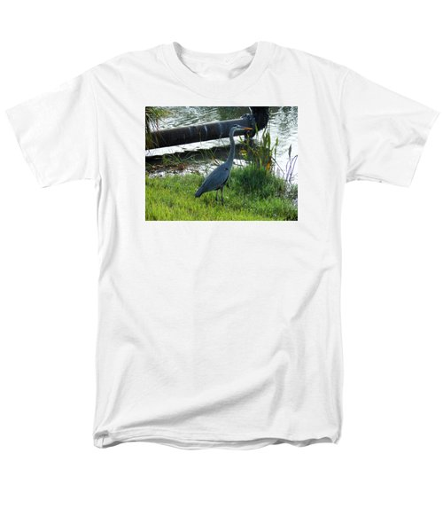 Men's T-Shirt  (Regular Fit) featuring the photograph Great Blue Heron by Kay Gilley