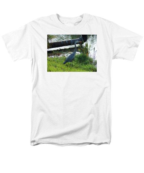 Great Blue Heron Men's T-Shirt  (Regular Fit) by Kay Gilley
