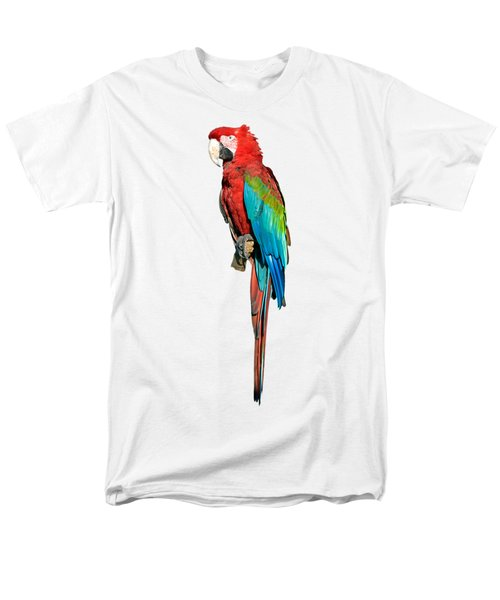 Red And Green Macaw Men's T-Shirt  (Regular Fit) by George Atsametakis