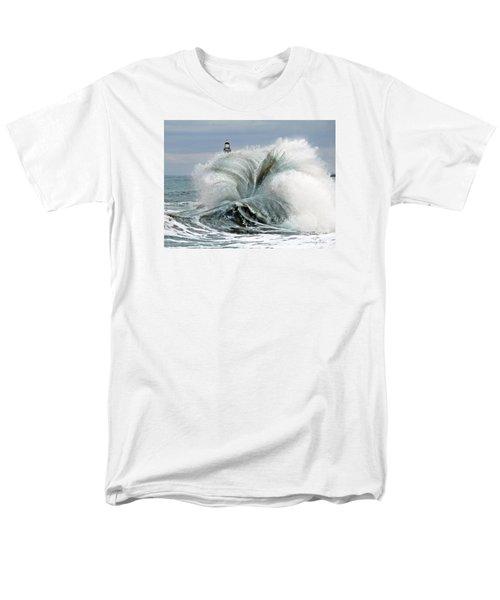 Men's T-Shirt  (Regular Fit) featuring the photograph Roker Pier Sunderland by Morag Bates