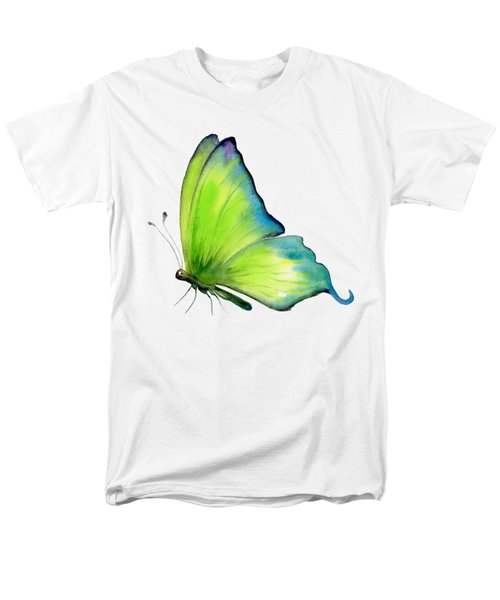 4 Skip Green Butterfly Men's T-Shirt  (Regular Fit) by Amy Kirkpatrick