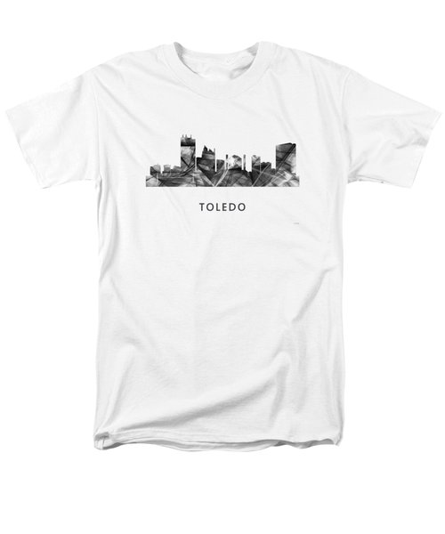 Toledo Ohio Skyline Men's T-Shirt  (Regular Fit) by Marlene Watson