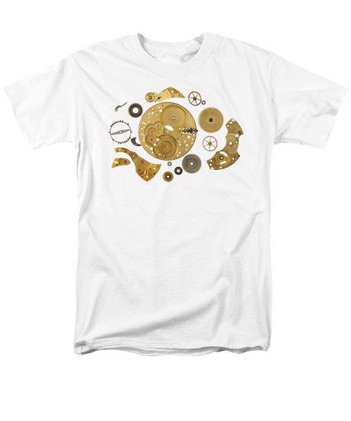 Men's T-Shirt  (Regular Fit) featuring the photograph Clockwork Mechanism by Michal Boubin