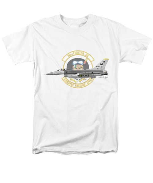 Men's T-Shirt  (Regular Fit) featuring the digital art Lockheed Martin F-16c Viper by Arthur Eggers
