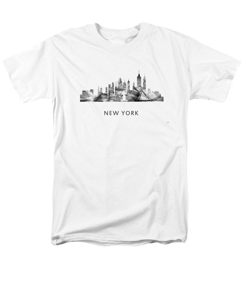 New York New York Skyline Men's T-Shirt  (Regular Fit) by Marlene Watson