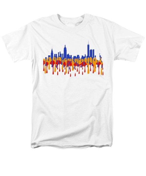 New York Ny Skyline Men's T-Shirt  (Regular Fit) by Marlene Watson