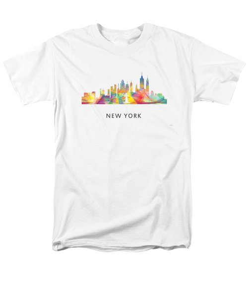 New York Skyline Men's T-Shirt  (Regular Fit) by Marlene Watson