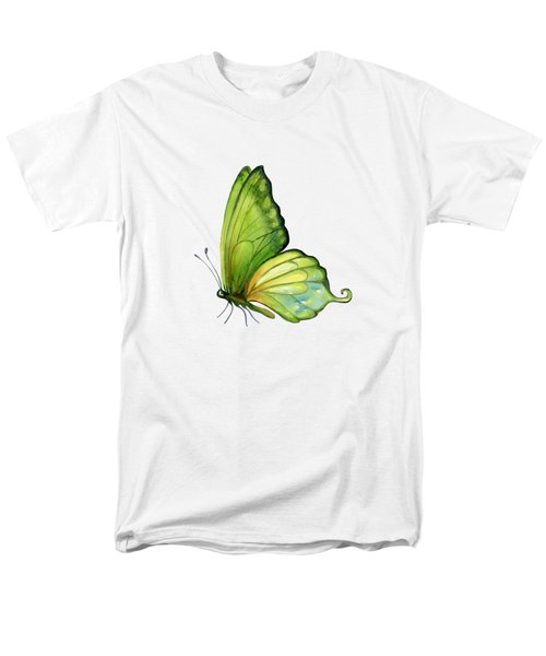 5 Sap Green Butterfly Men's T-Shirt  (Regular Fit)
