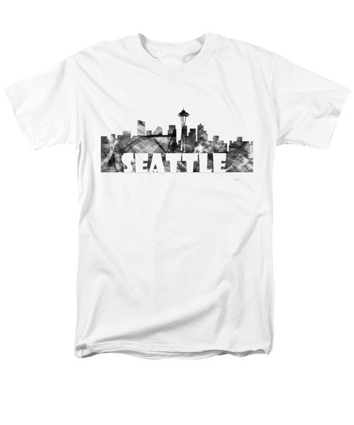 Seattle Washington Skyline Men's T-Shirt  (Regular Fit) by Marlene Watson