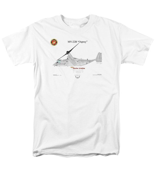 Men's T-Shirt  (Regular Fit) featuring the digital art Bell Boeing Mv-22b Osprey by Arthur Eggers