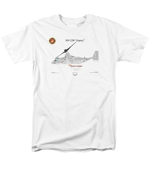 Bell Boeing Mv-22b Osprey Men's T-Shirt  (Regular Fit) by Arthur Eggers