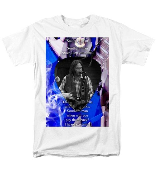 Neil Young Art Men's T-Shirt  (Regular Fit) by Marvin Blaine