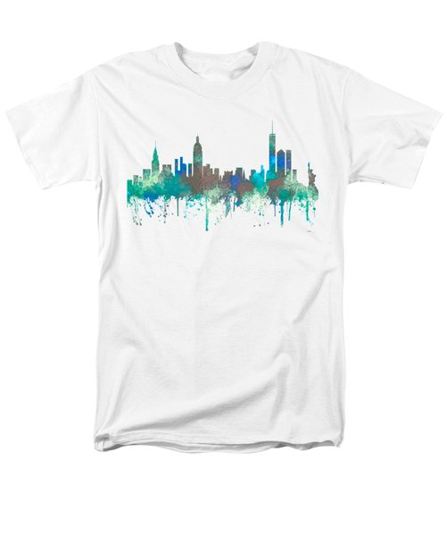 Men's T-Shirt  (Regular Fit) featuring the digital art New York Ny Skyline by Marlene Watson
