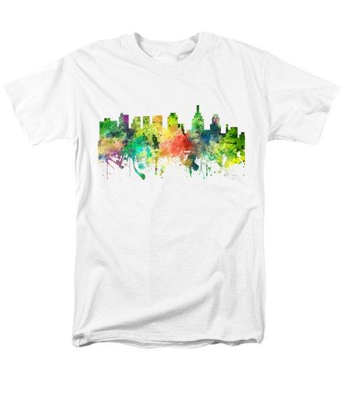 Philadelphia Pennsylvania Skyline Men's T-Shirt  (Regular Fit) by Marlene Watson